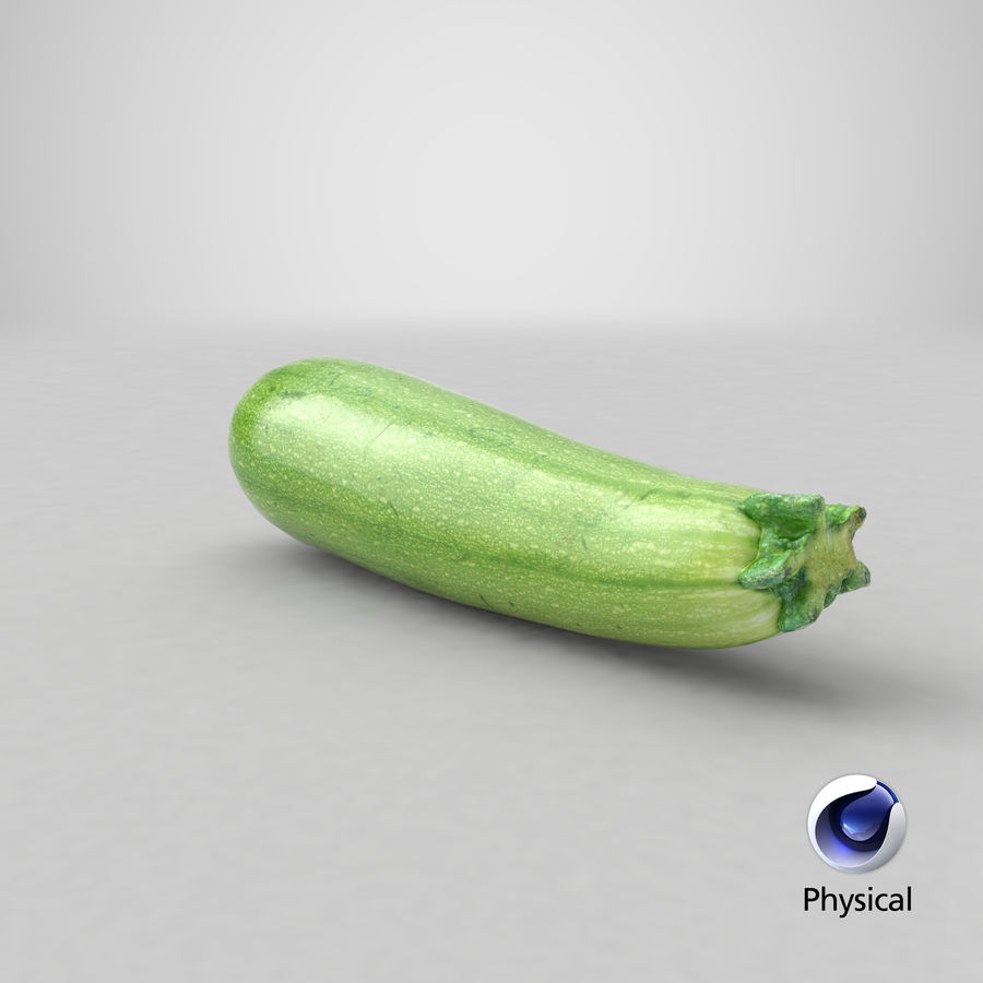 Zucchini Cousa Squash 04 royalty-free 3d model - Preview no. 19