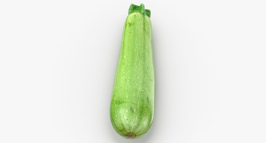 Zucchini Cousa Squash 04 royalty-free 3d model - Preview no. 7