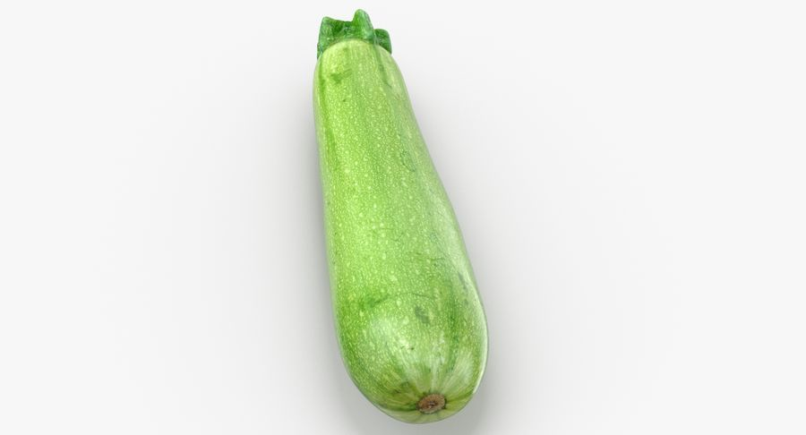 Zucchini Cousa Squash 04 royalty-free 3d model - Preview no. 4