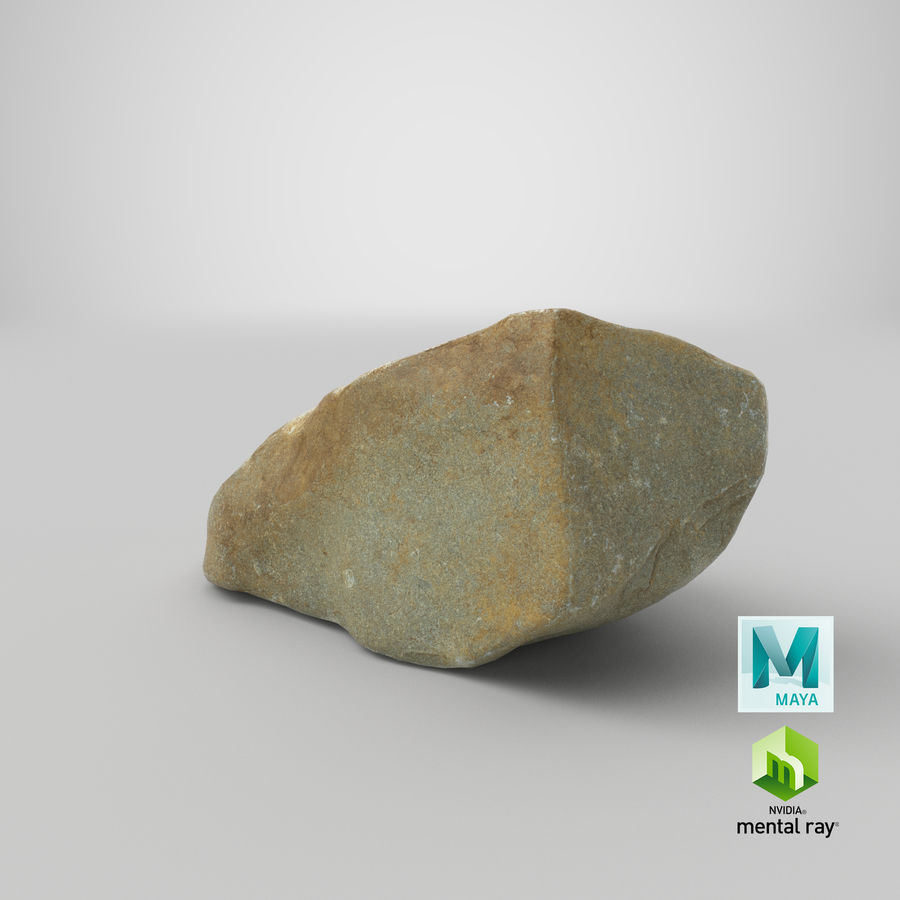 Mountain Rock 03 royalty-free 3d model - Preview no. 28