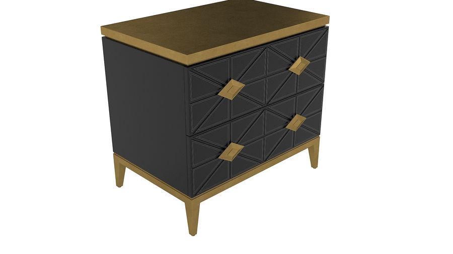 John richard andrial-nightstand royalty-free 3d model - Preview no. 3
