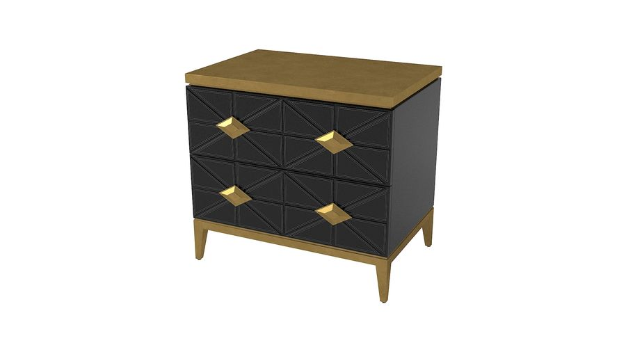John richard andrial-nightstand royalty-free 3d model - Preview no. 2