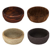 Wood Bowl Collection 3d model