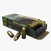9mm ammunitionspaket 3d model