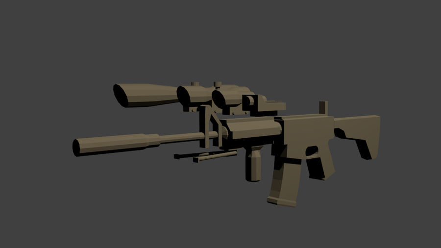 Low Poly Weapon Pack royalty-free 3d model - Preview no. 5