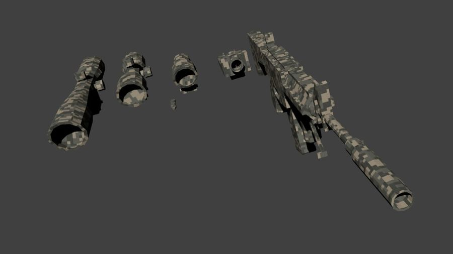 Low Poly Weapon Pack royalty-free 3d model - Preview no. 11