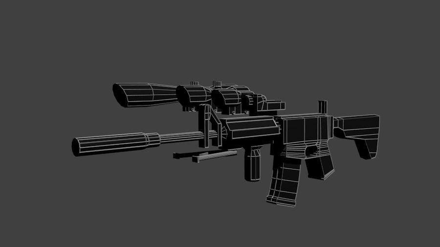 Low Poly Weapon Pack royalty-free 3d model - Preview no. 2