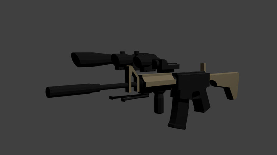 Low Poly Weapon Pack royalty-free 3d model - Preview no. 3