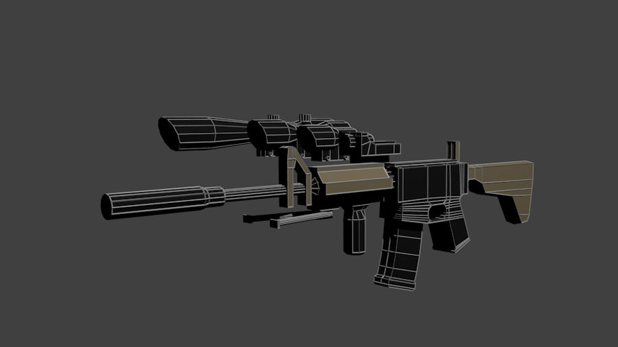 Low Poly Weapon Pack royalty-free 3d model - Preview no. 4
