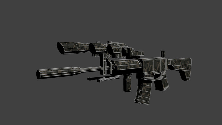 Low Poly Weapon Pack royalty-free 3d model - Preview no. 8