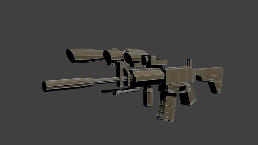 Low Poly Weapon Pack royalty-free 3d model - Preview no. 6