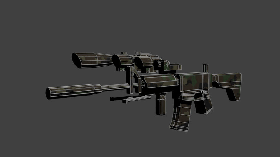 Low Poly Weapon Pack royalty-free 3d model - Preview no. 10