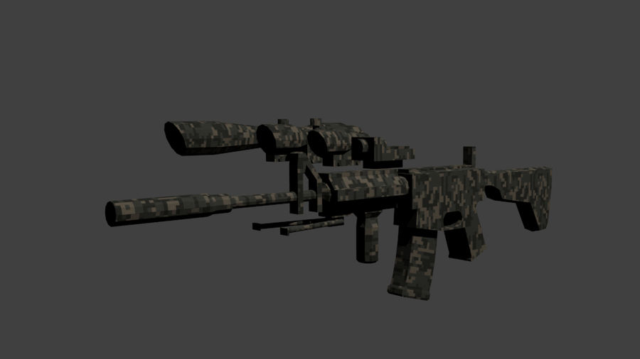 Low Poly Weapon Pack royalty-free 3d model - Preview no. 7