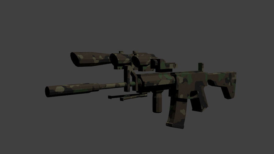 Low Poly Weapon Pack royalty-free 3d model - Preview no. 9