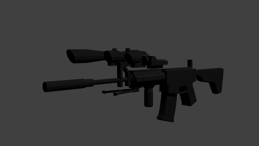 Low Poly Weapon Pack royalty-free 3d model - Preview no. 1