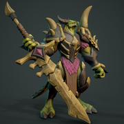 Dragon Slayer Anim Rig 3d model