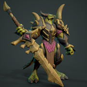 Dragon Slayer Anim Rig 3d model