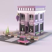 Винный магазин 01 3d model