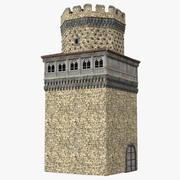 Torre di guardia medievale 3d model