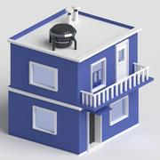 maison low poly pour le jeu 3d model