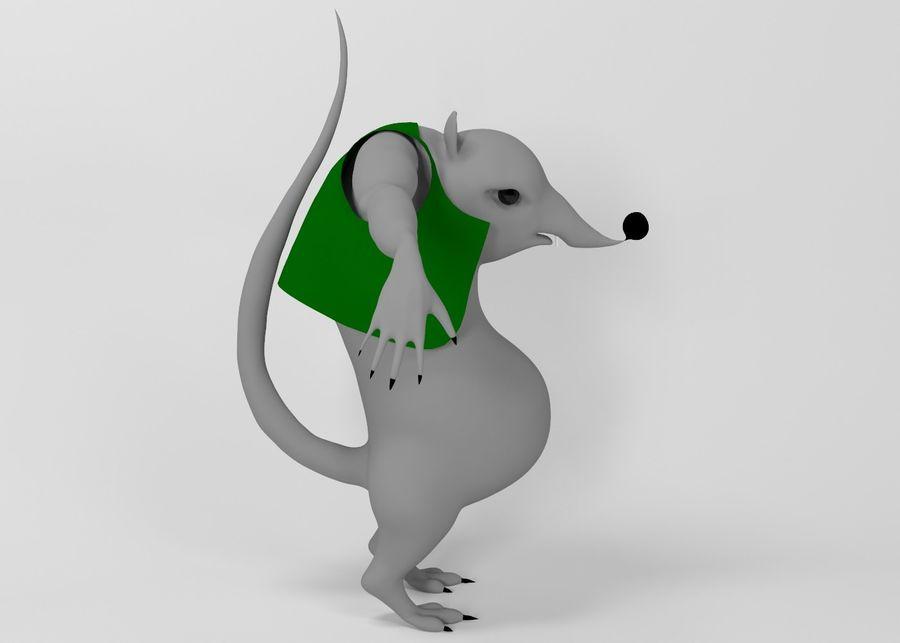 Råtta royalty-free 3d model - Preview no. 4