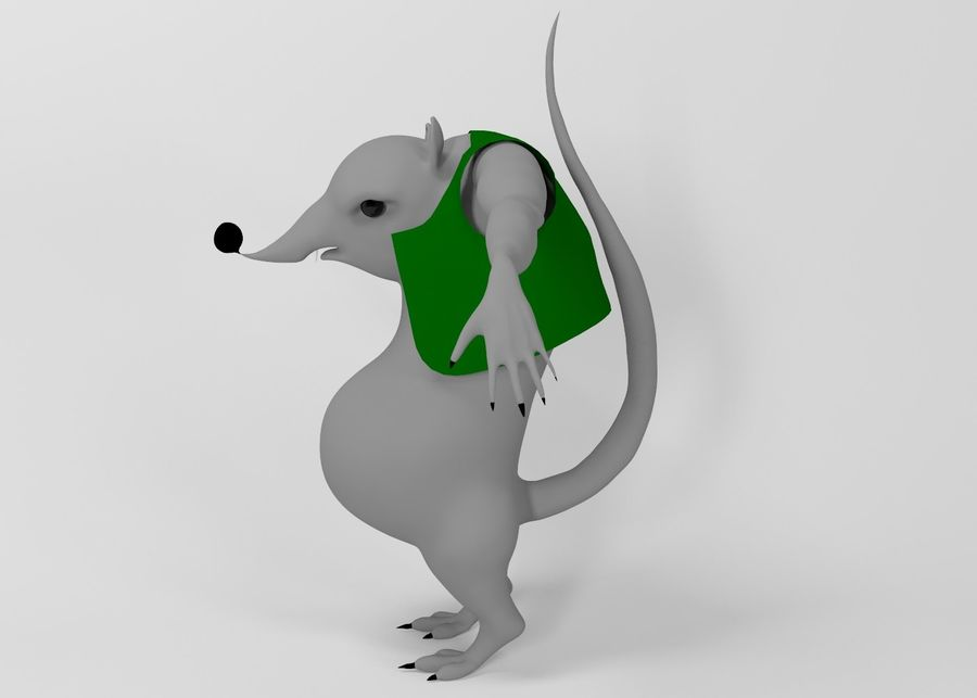 Råtta royalty-free 3d model - Preview no. 2