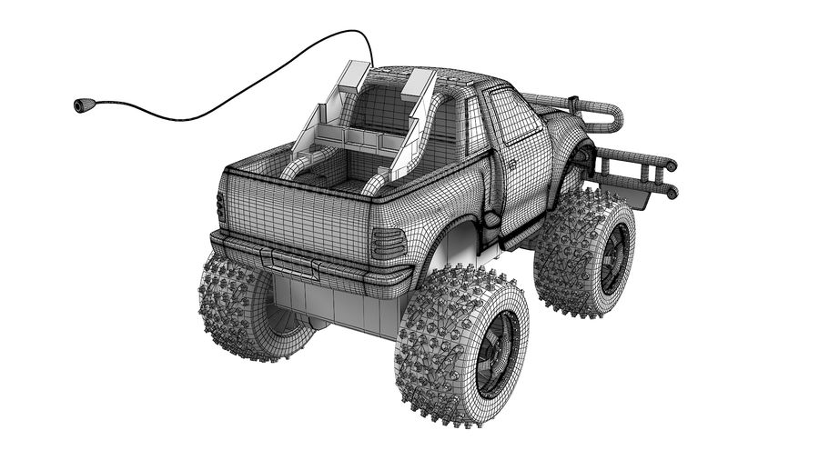Радиоуправление Ford F150 royalty-free 3d model - Preview no. 1