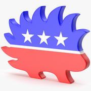 Libertarian Party Logo 3d model