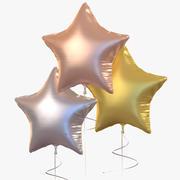 Ballon Metallic Star - Kerstmis Nieuwjaar 3d model