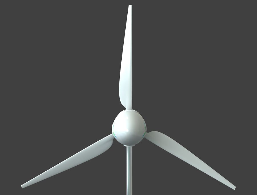 TURBINA DE VENTO royalty-free 3d model - Preview no. 5
