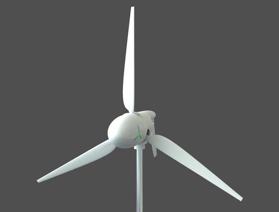 TURBINA DE VENTO royalty-free 3d model - Preview no. 2