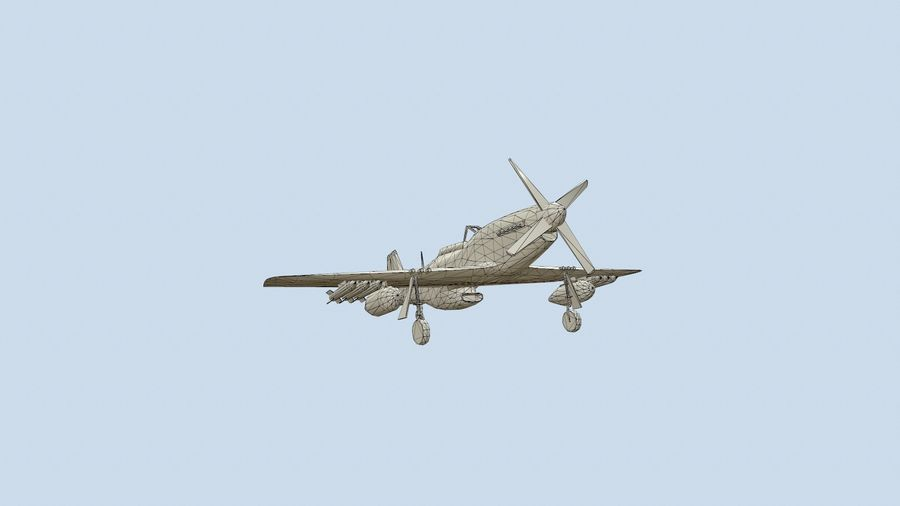 P-51 Mustang royalty-free 3d model - Preview no. 1
