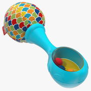 Fisher Price Blue Baby Rattle 3d model