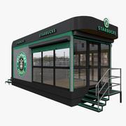 Starbucks Mobile Cafe 3d model