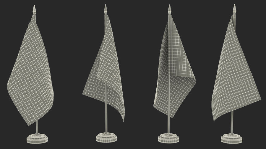 Table Flag United Kingdom royalty-free 3d model - Preview no. 17
