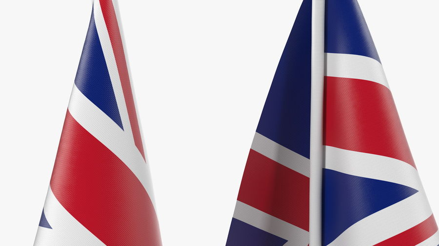 Table Flag United Kingdom royalty-free 3d model - Preview no. 8