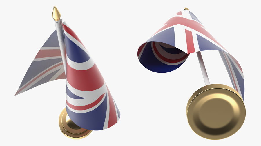 Table Flag United Kingdom royalty-free 3d model - Preview no. 7