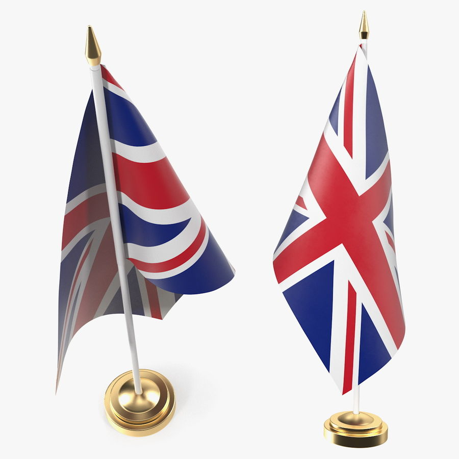 Table Flag United Kingdom royalty-free 3d model - Preview no. 1