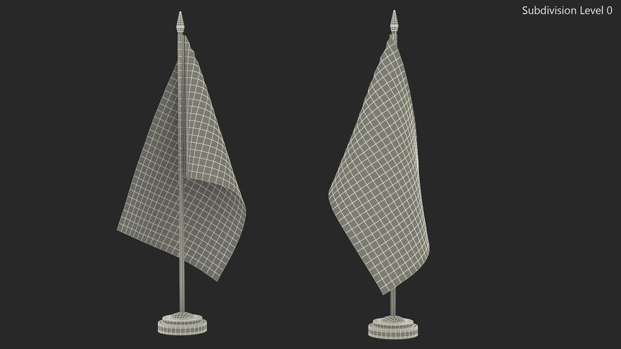 Table Flag United Kingdom royalty-free 3d model - Preview no. 10