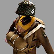 World War 2 Us Paratrooper (uniform) 3d model