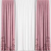 Pink curtains 3d model