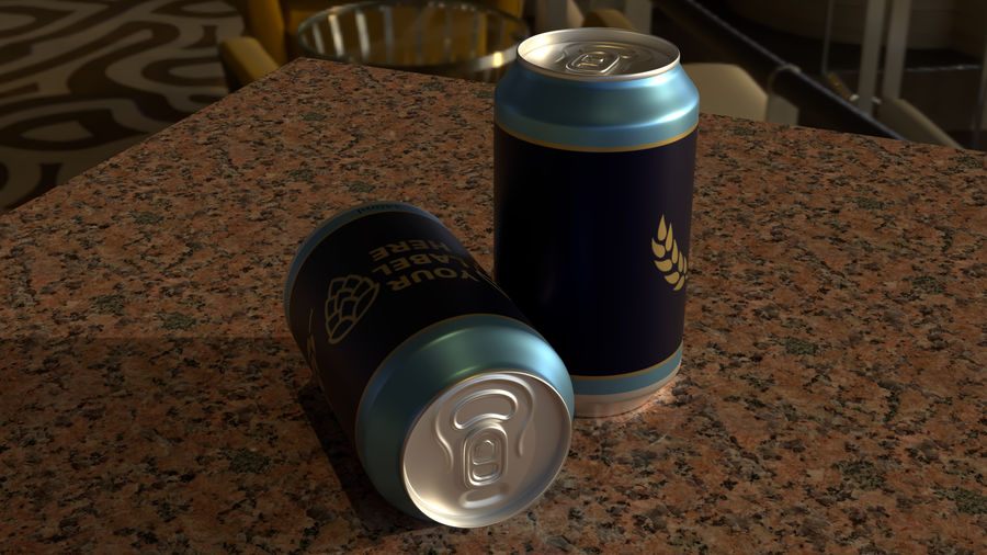 Aluminium Can royalty-free 3d model - Preview no. 4