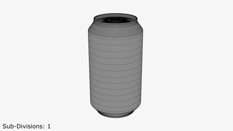 Aluminium Can royalty-free 3d model - Preview no. 8