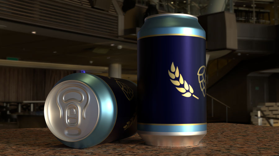 Aluminium Can royalty-free 3d model - Preview no. 6