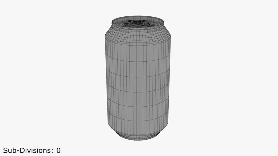 Aluminium Can royalty-free 3d model - Preview no. 7