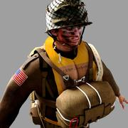 World War 2 US Paratrooper 3d model