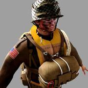 World War 2 US Paratrooper 3d model