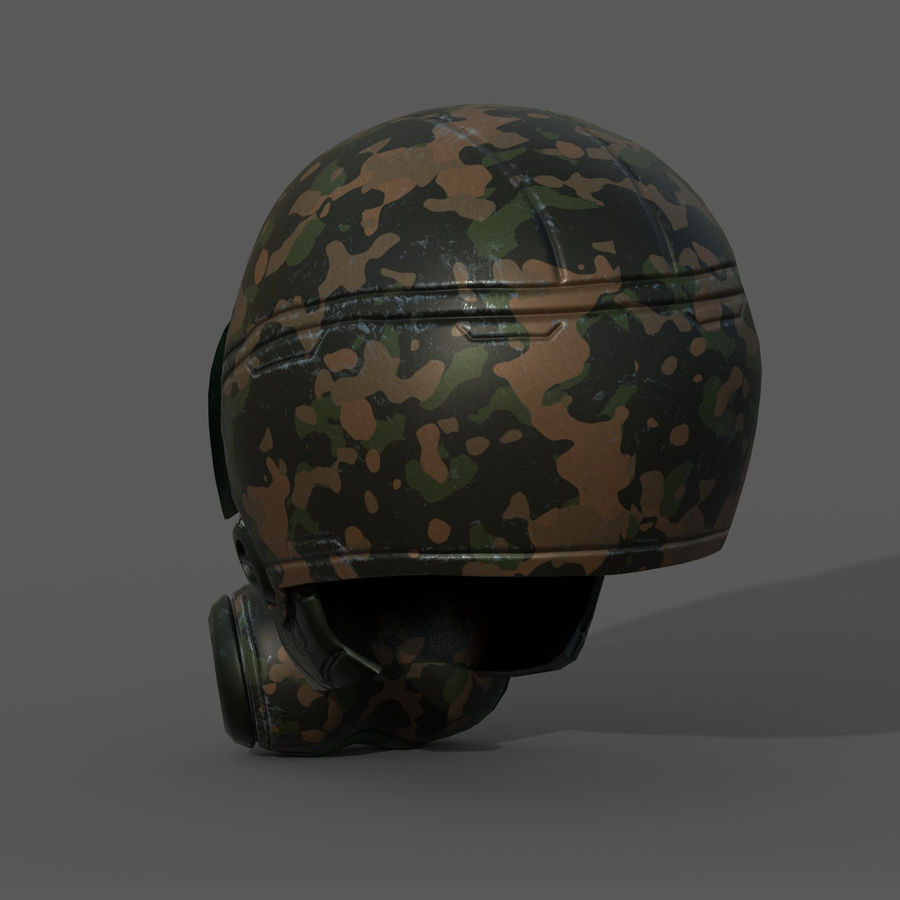 Helmet combat military Scifi fantasy space royalty-free 3d model - Preview no. 5