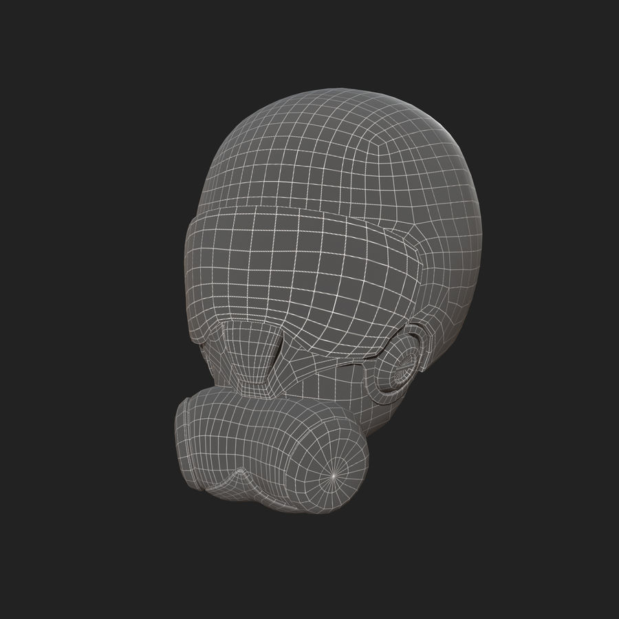 Helmet combat military Scifi fantasy space royalty-free 3d model - Preview no. 12
