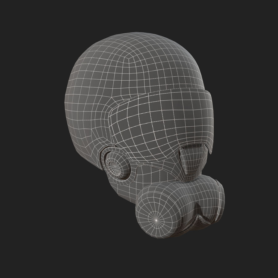 Helmet combat military Scifi fantasy space royalty-free 3d model - Preview no. 10